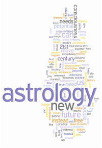 Astrology for the 21st Century word cloud graphic